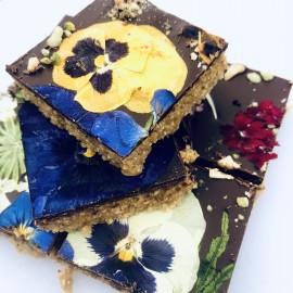 Floral Chocolate Hazelnut Slices (Gluten Free) [CLONE]