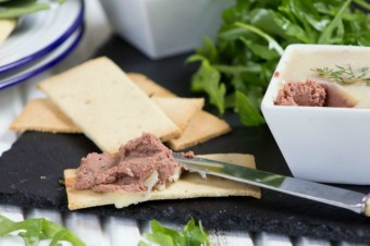 Chicken Liver Pate with Paleo Crackers