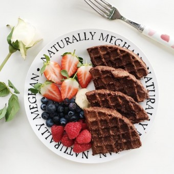 Vegan and Gluten-Free Healthy Chocolate Waffles