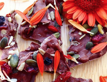 Healthy Fruit and Nut Chocolate Bark Recipe