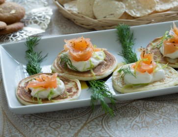 Blinis with Smoked Salmon and Ginger