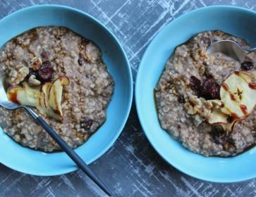 Festive Apple & Cranberry Spiced Porridge