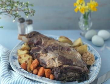 Roast Shoulder of lamb with honey & herbs