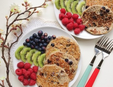 Vegan Blueberry Muffin Buckwheat Pancakes