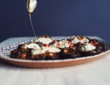 Aubergine, Pomegranate & Yogurt Salad