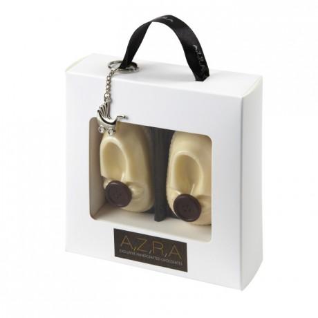 Baby Alex Handmade White Chocolate Shoes