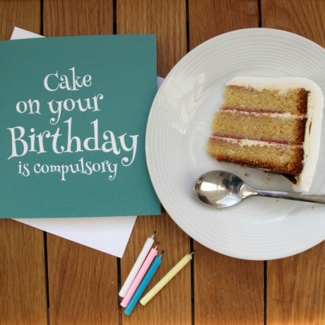 Cake on your Birthday is Compulsory Birthday Card Jade