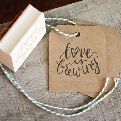 Love is brewing Stamp