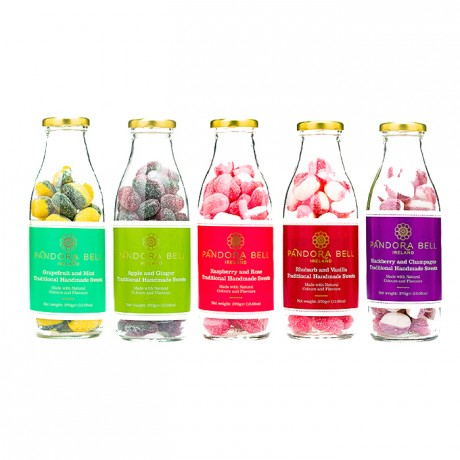 Raspberry & Rose Natural Handmade Sweets - 3 bottles