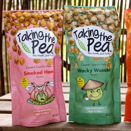 Smoked Ham Crunchy Pea Snacks - 12 pack