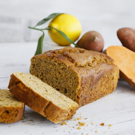 Lemon, Poppy Seed Cake with Sweet Potato