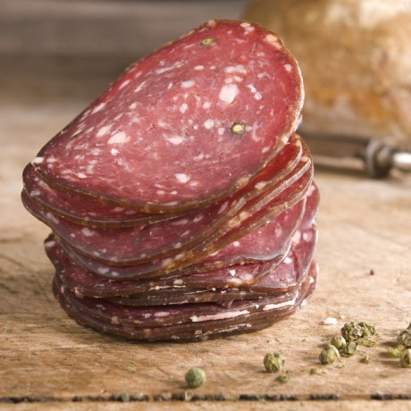 Green Pepper Venison Salami