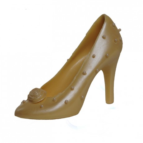 Perla Designer Handmade White Chocolate Shoe