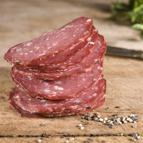 Venison pork salami