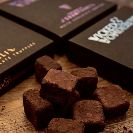 Luxury Chocolate Truffle Wooden Advent Calendar