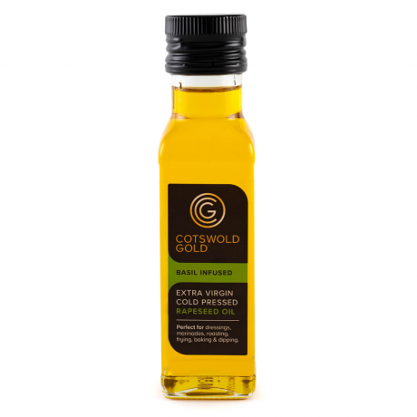 Cotswold Gold Basil Infused Rapeseed Oil 100ml