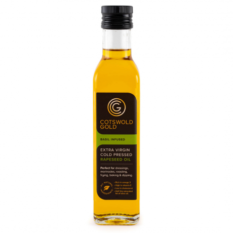 Cotswold Gold Basil Infused Rapeseed Oil 250ml