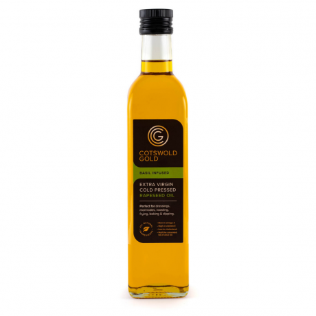 Cotswold Gold Basil Infused Rapeseed Oil 500ml