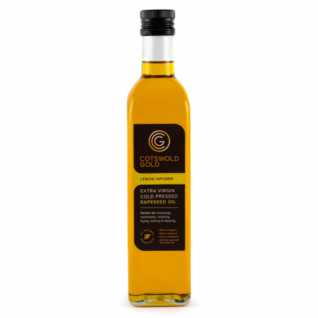 Cotswold Gold Lemon Infused Rapeseed Oil 500ml