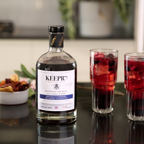 Personalised British Elderberry, Mulberry & Honey Gin