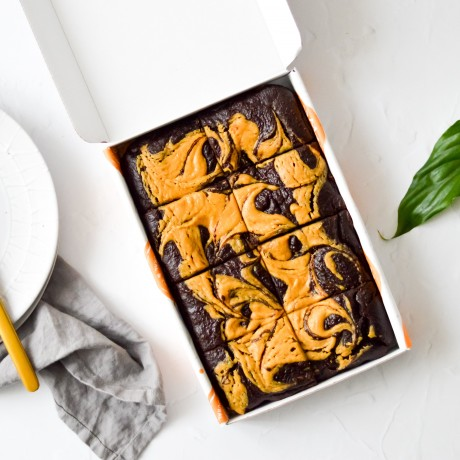 Peanut Butter Avocado Brownies | Vegan & Refined Sugar Free (Box of 8)