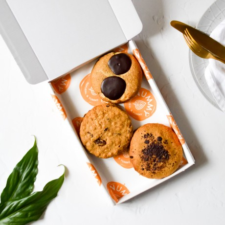 Cookie Trio | Vegan and Refined Sugar Free (Box of 6)