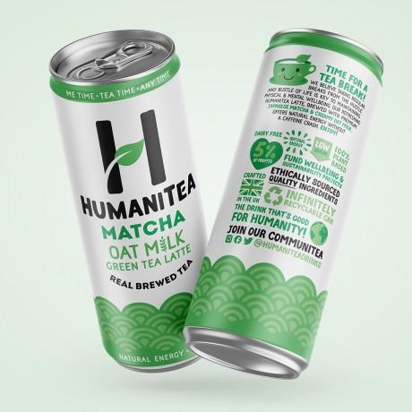 HumaniTea Matcha Oat Milk Green Tea Latte