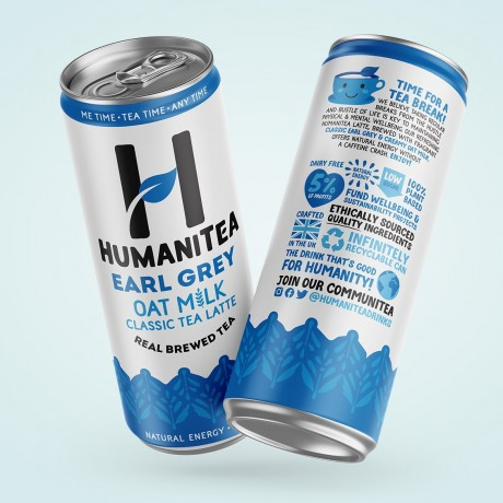 HumaniTea Earl Grey Oat Milk Classic Tea Latte