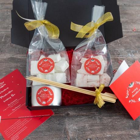 Christmas Salted Caramel and Raspberry Marshmallows Indulgent Toasting Box
