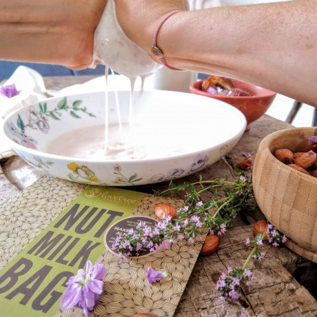 Organic Cotton Nut Milk Bag - Best Premium Quality Organic Almond Milk Strainer