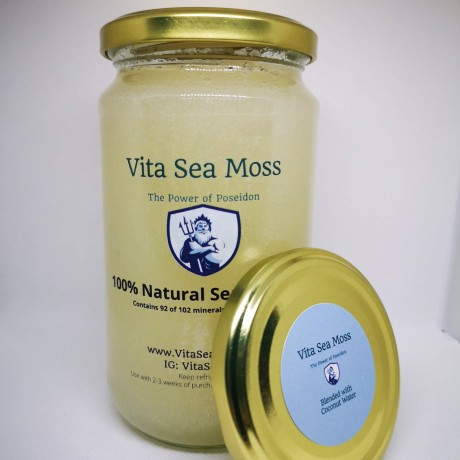 100% Natural Sea Moss Blended with Coconut Water
