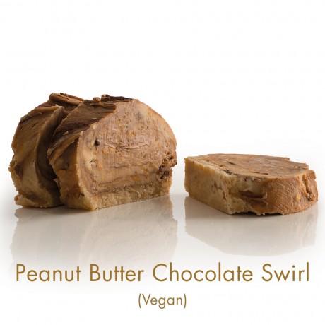 Peanut Butter Chocolate Swirl Vegan Fudge