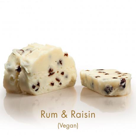 Rum & Raisin Vegan Fudge