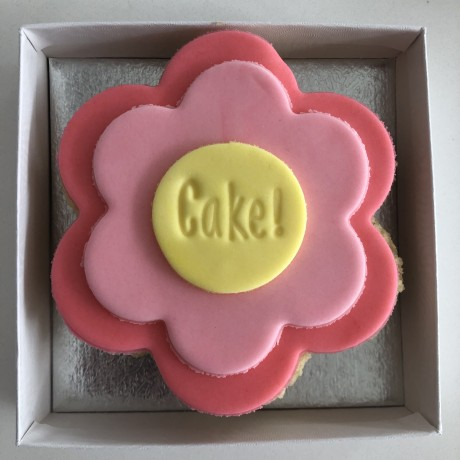 Personalised Flower Letterbox Cupcake