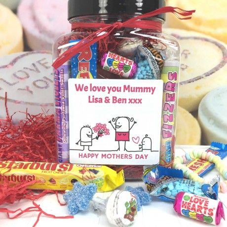 Personalised Retro Vegan Sweets Jar