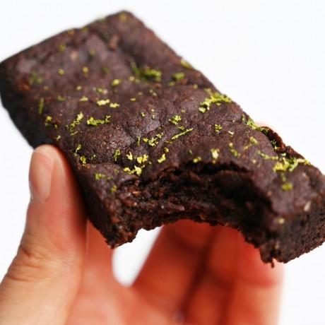 Lime and sea salt Brownie Close Up