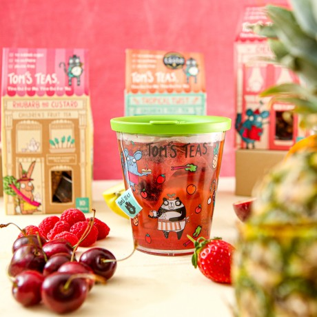Children's Reusable Cup and Lid 300ml ( clear cup & green lid)