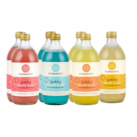 Purearth Sparkling Water Kefir Mixed Pack 550ml (7 Pack)