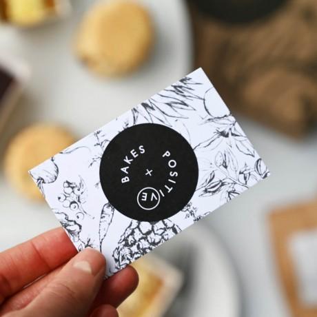 Positive bakes message card