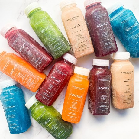 Cold pressed juices and shots