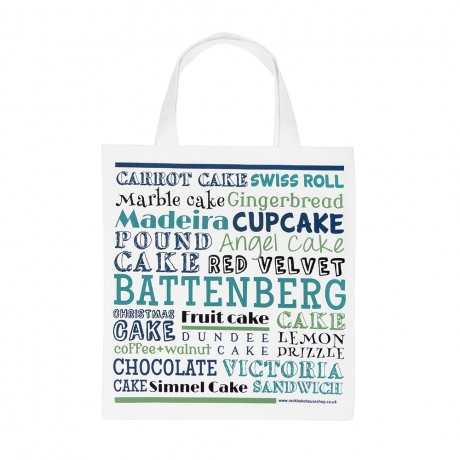 green blue cake canvas bag