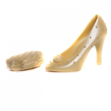 Perla Designer Handmade White Chocolate Shoe