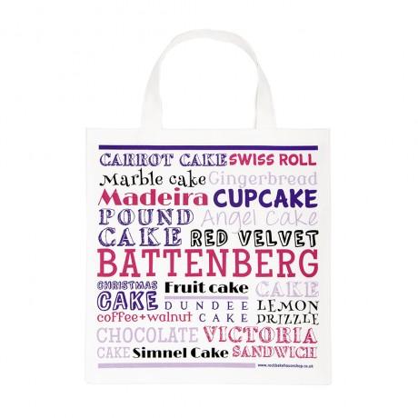 pink cake cotton tote bag