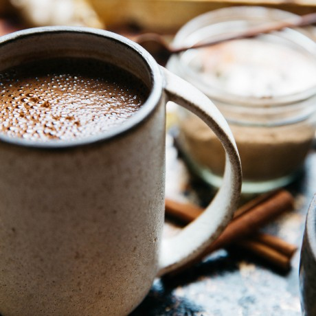 Spiced Raw Dairy Free Hot Chocolate