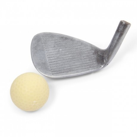 Chocolate Golf Iron & Ball