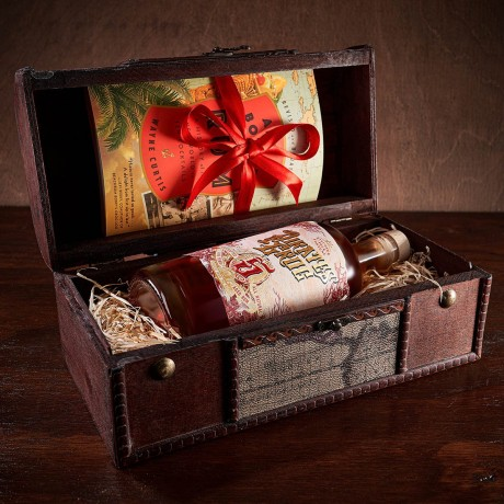 Five Year Aged Rum Gift Chest with Personalised Scroll