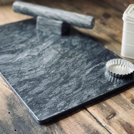Marble 60cm x 40cm dark grey pastry board