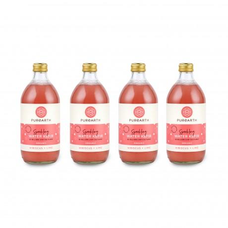 550ml - Hibiscus + Lime water kefir