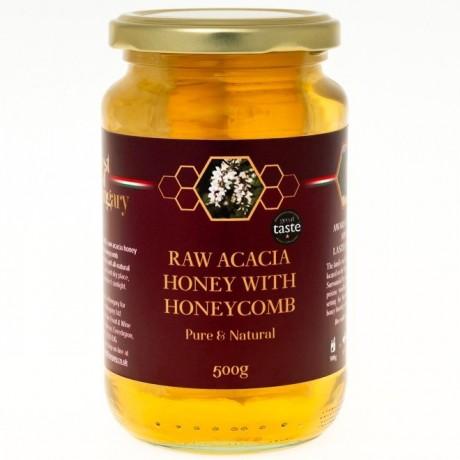 Raw Hungarian Acacia Honey with Honeycomb