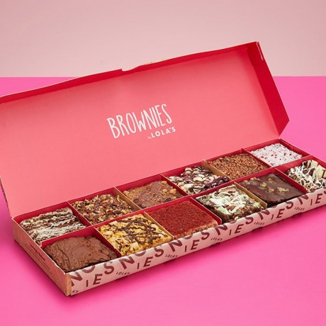 Brownies by Lola's - 12 Box of Deluxe Variety Brownie Box